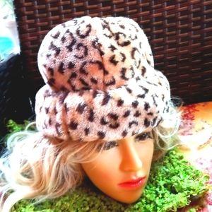 EVERITT Wild Cat Fierce Faux Fur Warm Winter Hat